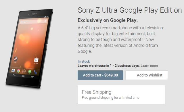 -649Sony Z Ultra Google Play Edition