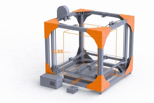 پرینتر BigRep ONE 3D با فضای چاپ یک متر مکعب