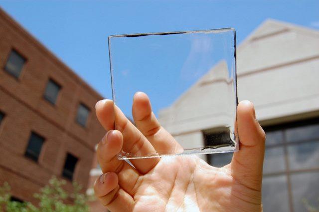 سلول خورشیدی شفاف